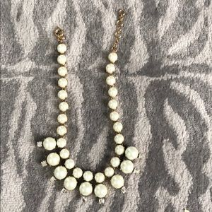 J crew faux pearl and crystal necklace